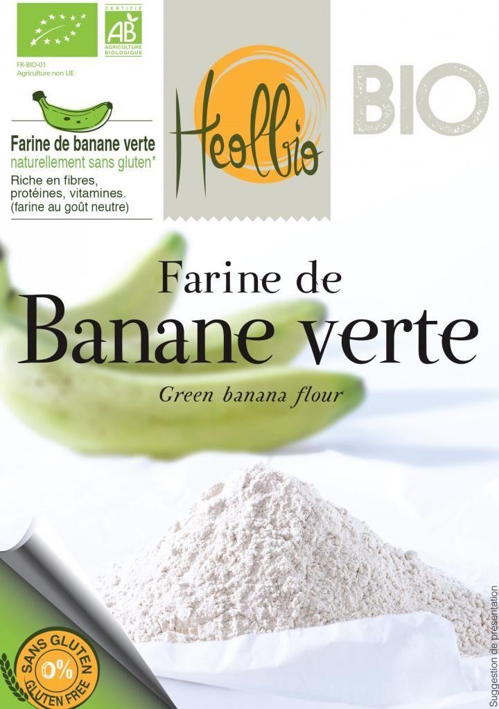 HEOLBIO farine de banane verte bio naturellement sans gluten