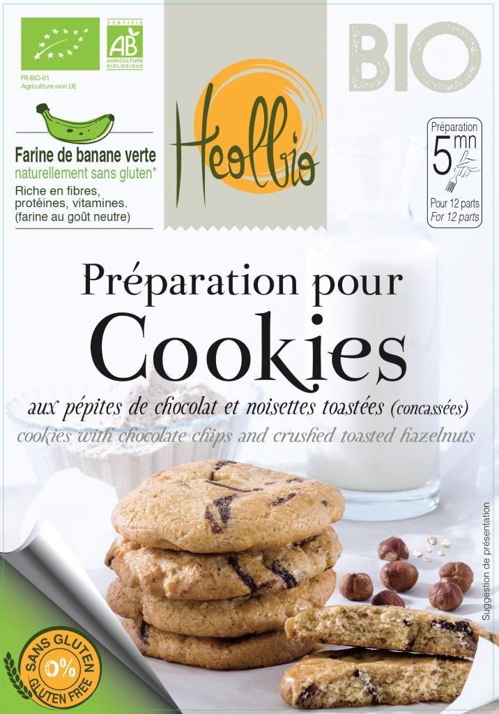 HEOLBIO préparation bio pour cookies sans gluten