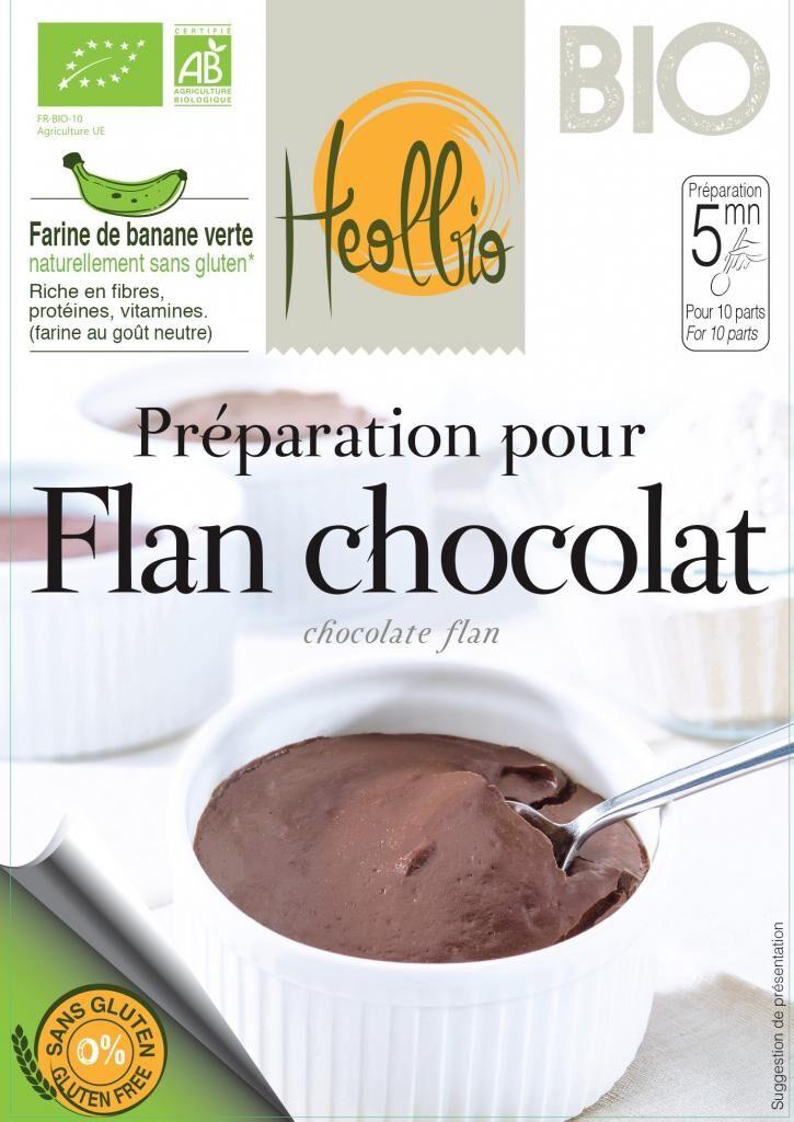 HEOLBIO préparation pour flan au cacao naturellement sans gluten