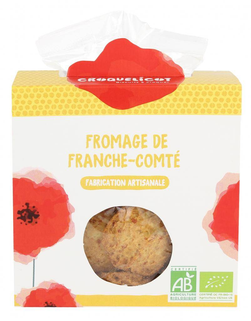 Croquelicot Biscuits Fromage de Franche-Comté, biologique, CROQUELICOT