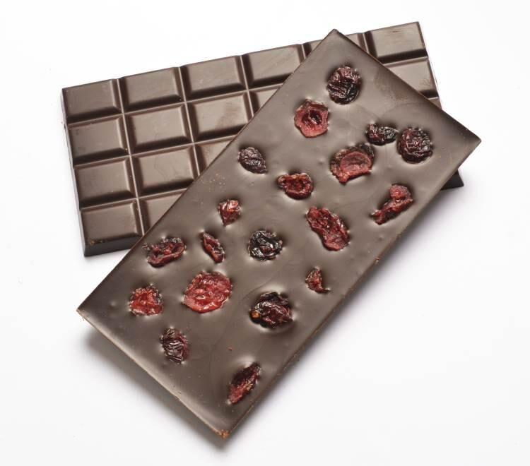 ECOCERT Chocolat noir Bio 74% Cranberry