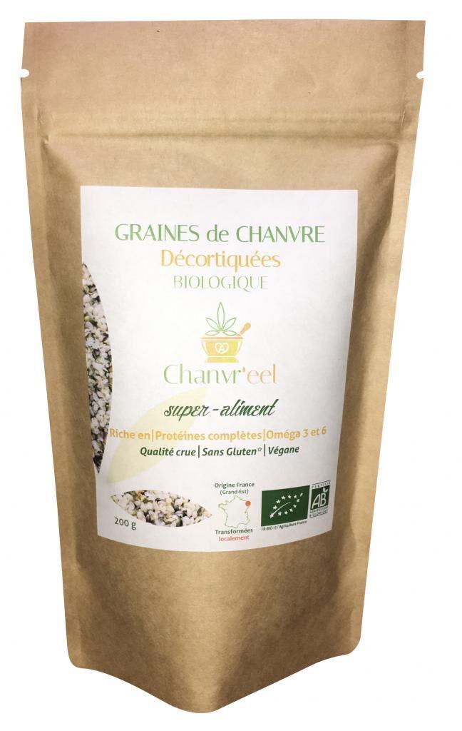 Chanvr'eel - Graines de Chanvre Décortiquées Bio (FR) 200g