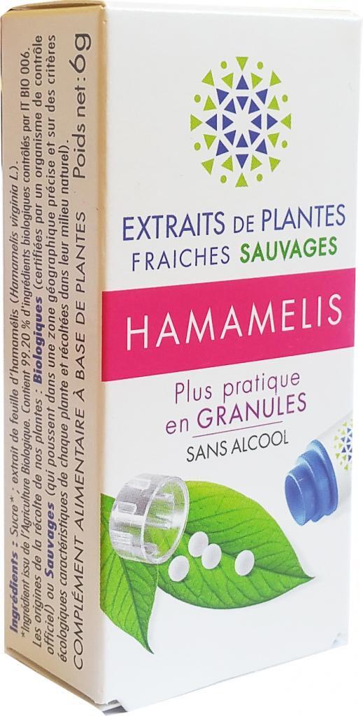 Kosmeo HAMAMELIS Teinture Mère  d'extaits de plantes fraiches granules ...
