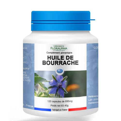 Rue Des Plantes Huile de bourrache 120 capsules - la vitamine E qui contribue à...