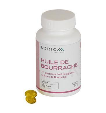 Laboratoire Lorica Huile de bourrache, hydratation de la peau, équilibre hormonal -...