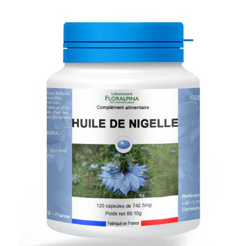 Rue Des Plantes Huile de Nigelle 120 capsules - riche en acides gras, vitamines et...