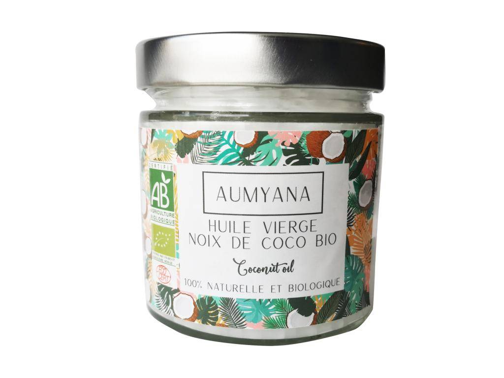 Aumyana- Marque Française Huile vierge de coco bio 350 ml