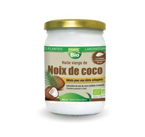D. PLANTES Huile Vierge De Noix De Coco Bio - D.Plantes