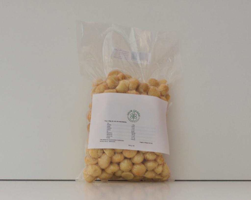 Grow Green Sas Noix de Macadamia, 500 grammes, salées, grillées