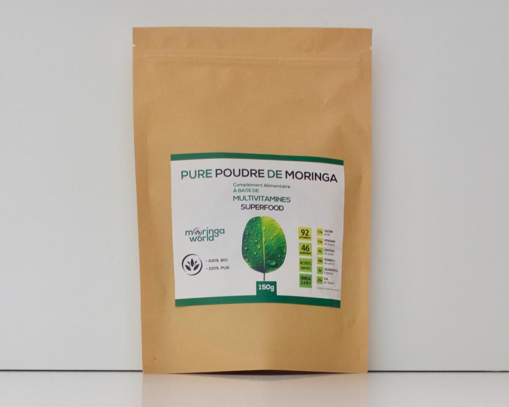 ECOCERT Poudre de feuilles de Moringa Bio certifiée Ecocert