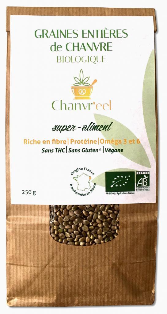 Chanvr'eel - Graines de Chanvre Entières Bio (FR) 250g