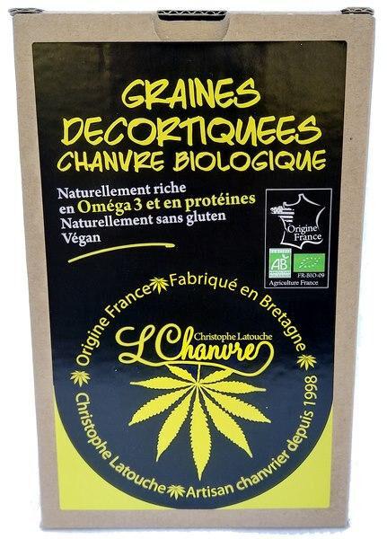 Sana Vita Graines décortiquées de chanvre Bio, 250 g