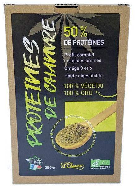 Sana Vita Protéines de chanvre (50%) de Protéines végétale., 250 g