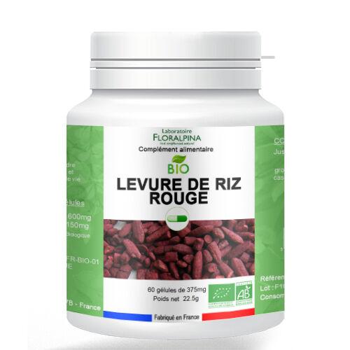 Rue Des Plantes Levure de riz rouge BIO 60 gélules