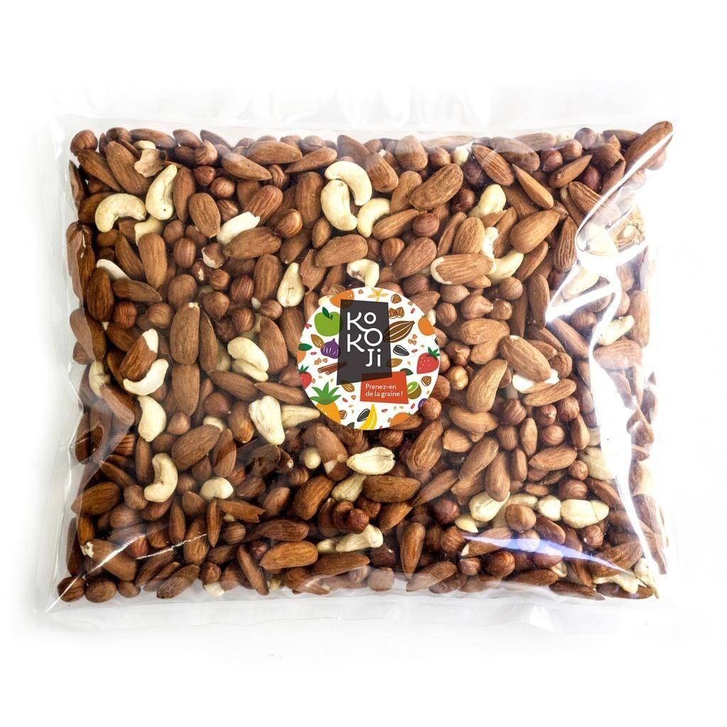 Kokoji Mélange de fruits secs Croquant bio 5 kg - Amande, noisette, noix...