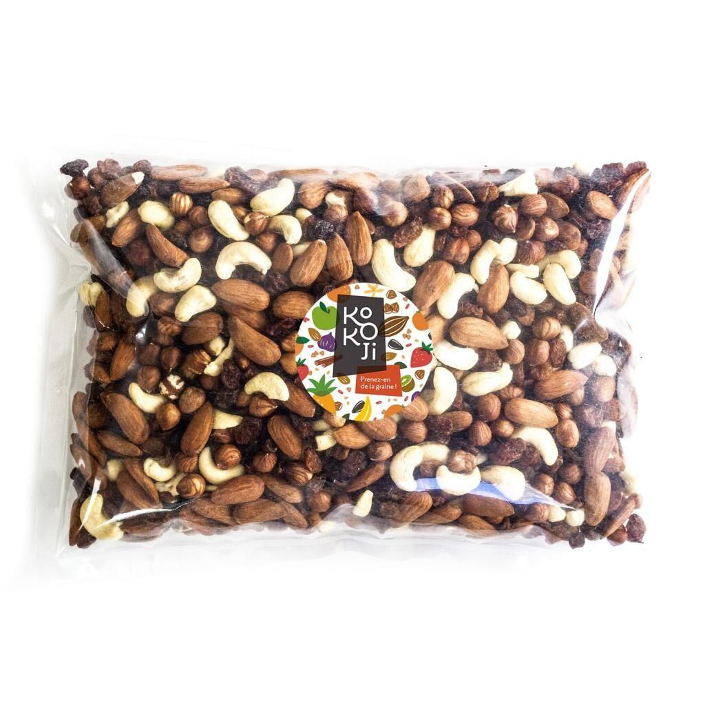 Kokoji Mélange de fruits secs Etudiant bio 5 kg : raisin sec, amande,...