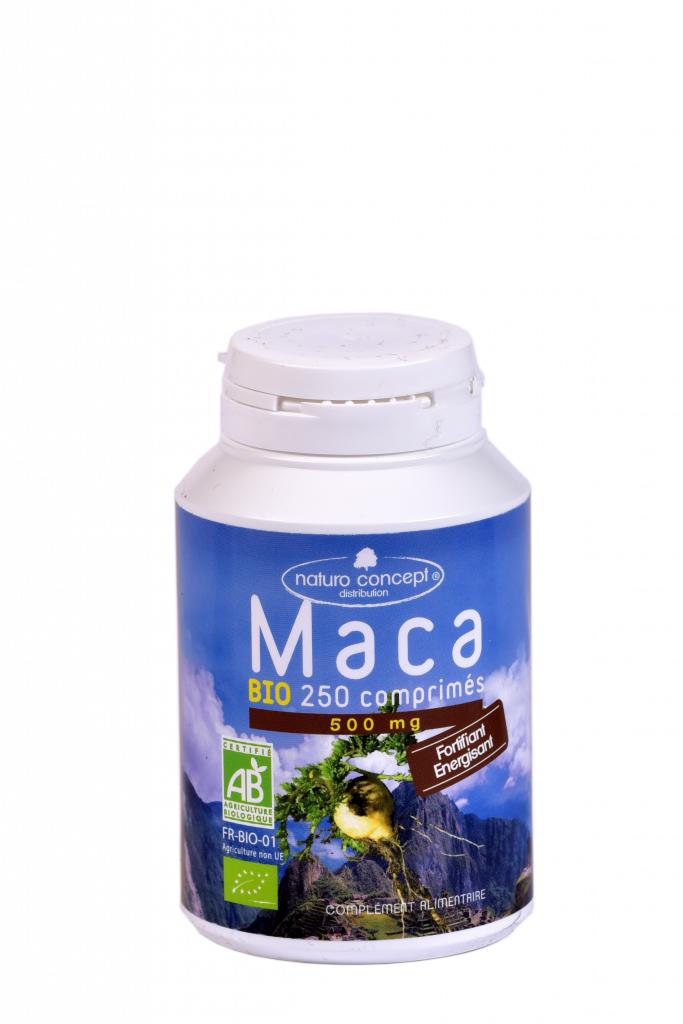 Maca bio - 250 comprimés