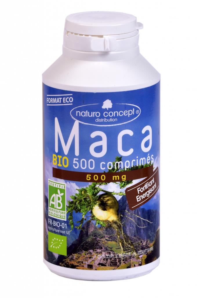 Maca bio - 500 comprimés