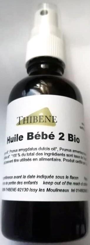 """Les Essentiels D'isabelle Huile de massage pour bébé 2 """"Calmante et digestive"""" bio 50ml"""