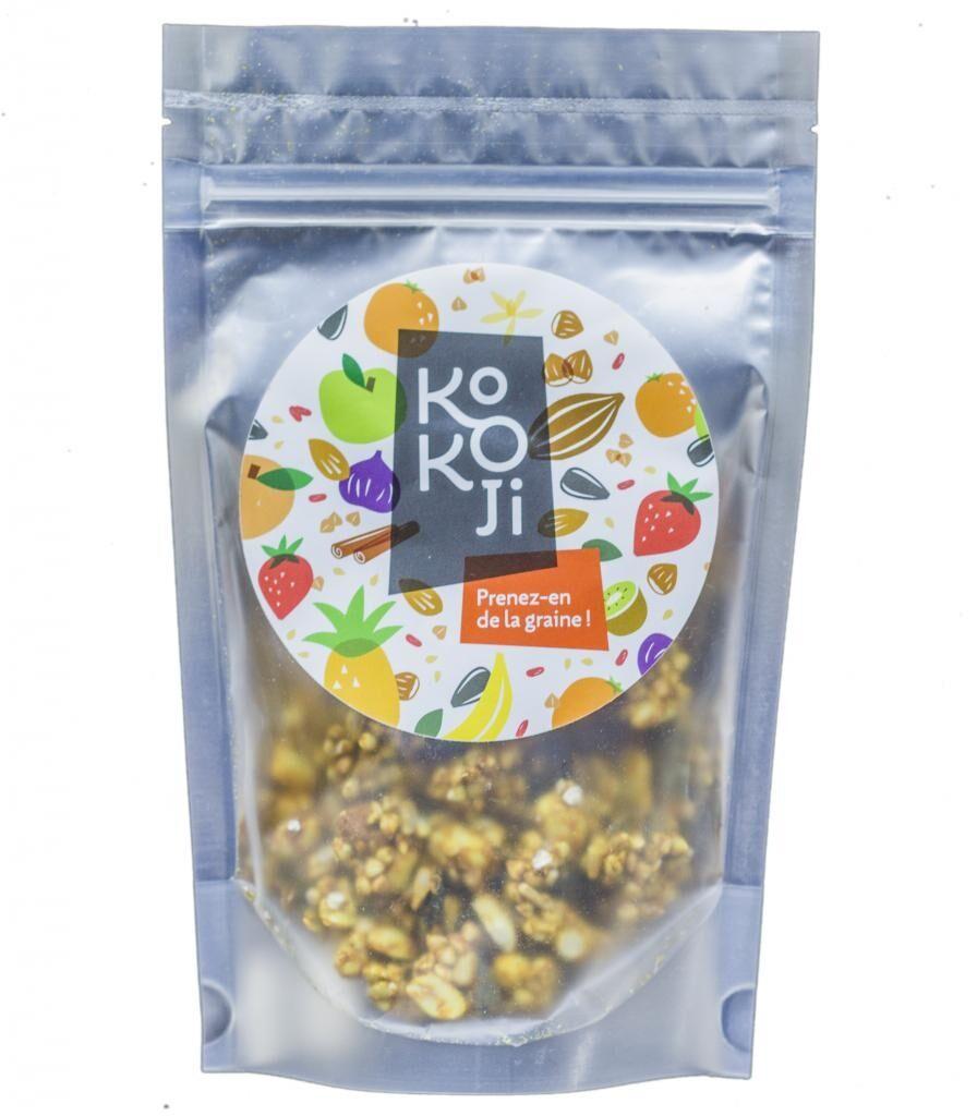 Kokoji Mix salé Bio Gingembre Curcuma 90 g - Mélange de graines...