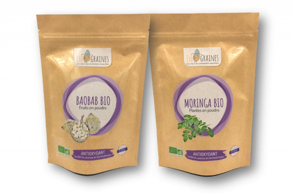 110 Graines Mix - On se détend ! - Baobab - Moringa - 110 Graines