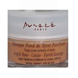 """"""" Pureté Paris """" Masque Fond de Teint Purifiant -Argile Rose - Cacao - Karité..."""