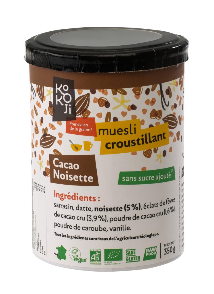 Kokoji Muesli croustillant Cacao Noisette (granola) - 350g - sans gluten
