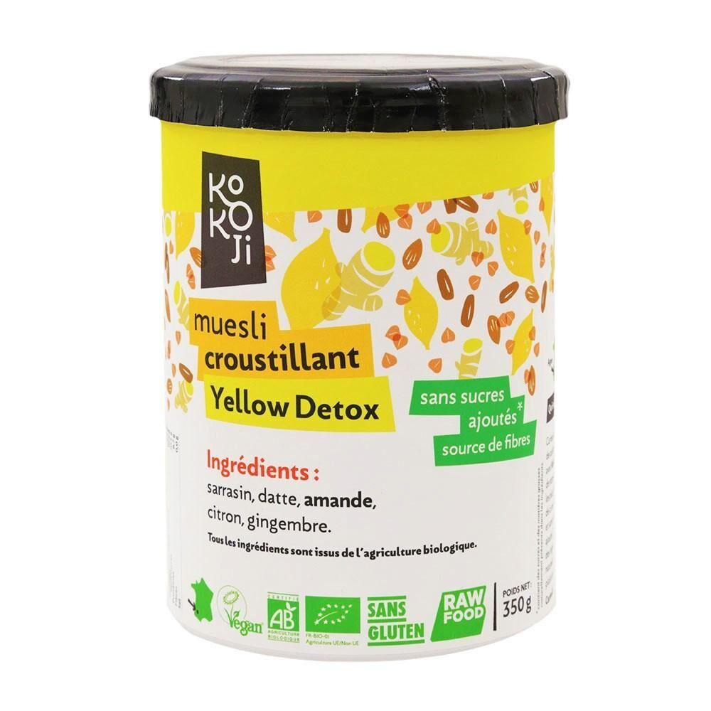 Kokoji Muesli croustillant Yellow Detox (granola) - 350 g - sans gluten