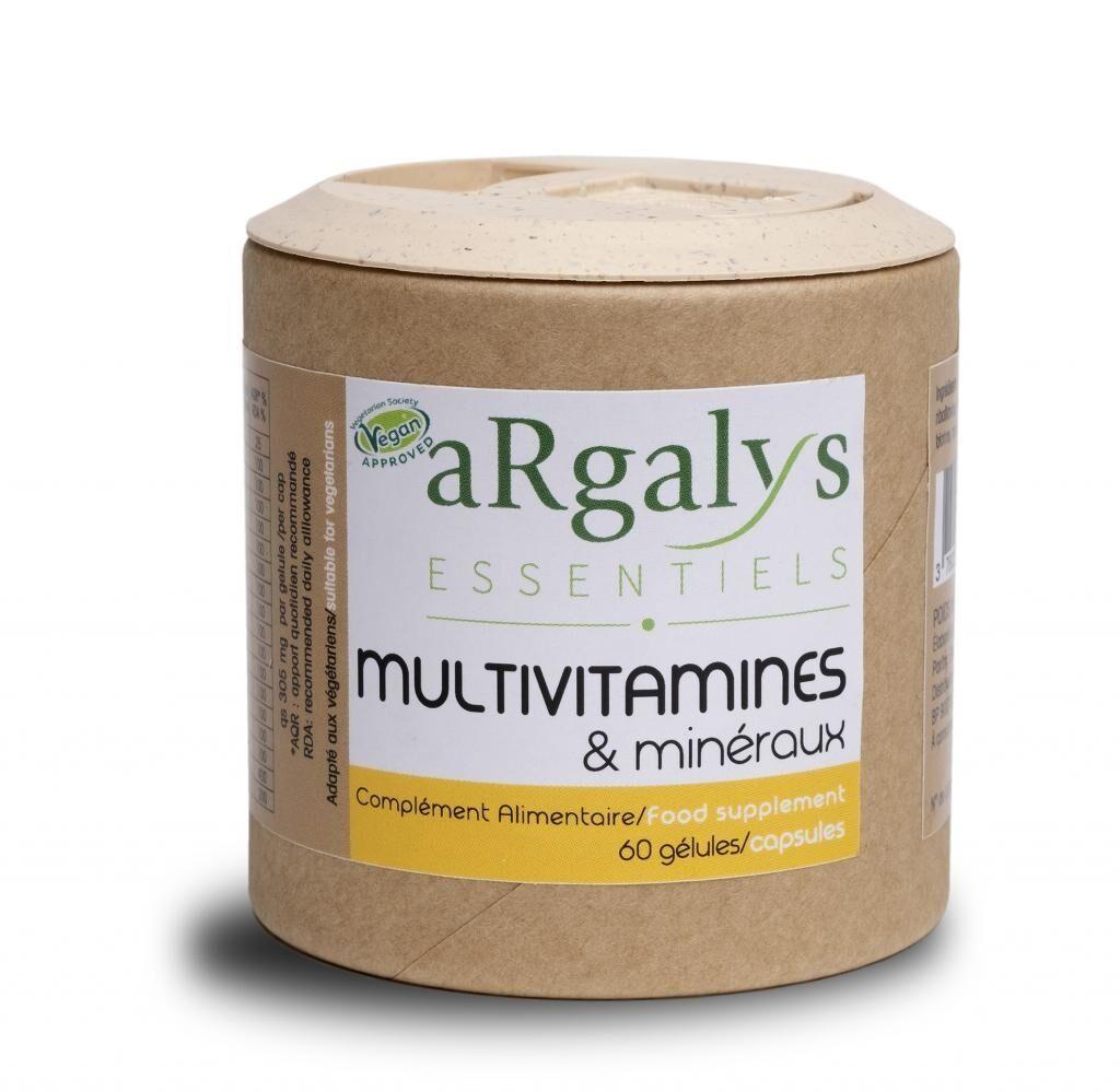 ARGALYS Vit B12+ Vit D3 + Fer et 10 Vitamines + 6 Mineraux Vegan - 60...