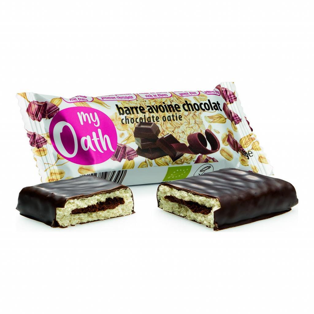 Lechoppebio Barre Avoine-Chocolat enrobée de chocolat Bio 50g - My Oath