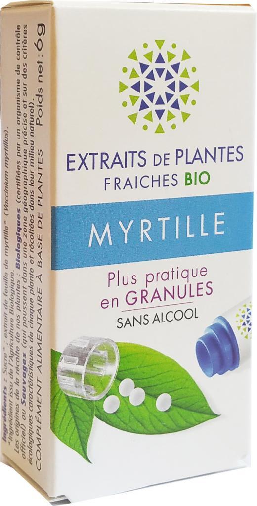 Kosmeo MYRTILLE Teinture Mère  d'extaits de plantes fraiches granules ...