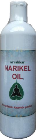 Ayushkar Diffusion Huile de massage ayurvédique Narikel - Huile de coco pure - 200 ml