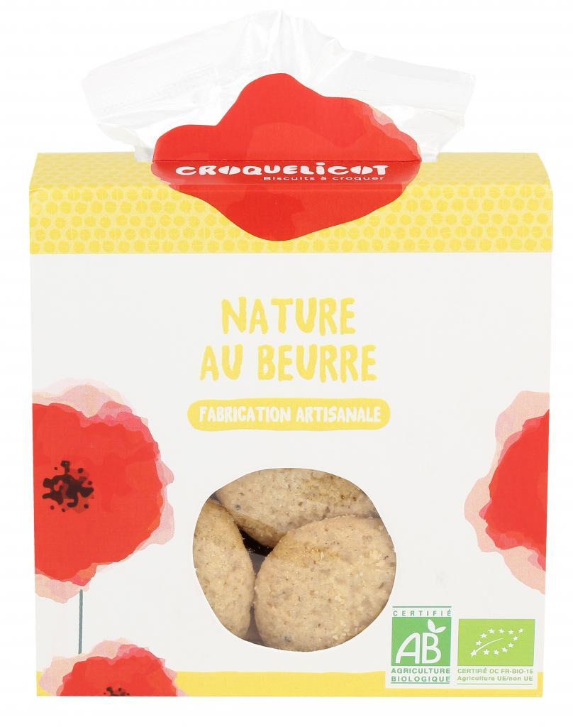 Croquelicot Biscuits Nature au beurre, biologique, CROQUELICOT