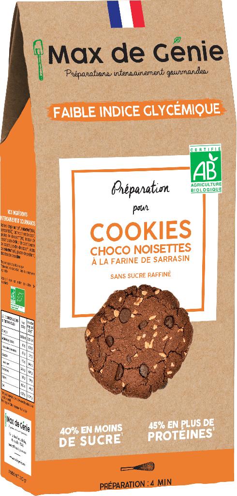 Max De Genie Préparation pour cookies choco noisettes à la farine de sarrasin