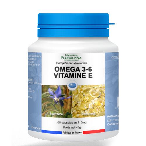 Rue Des Plantes Omega 3&6; vitamine E 60 capsules