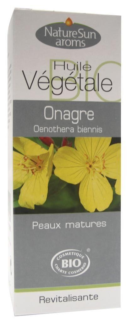Essentielbio Onagre Bio -  Oenothera biennis - Huile végétale -50 ml -