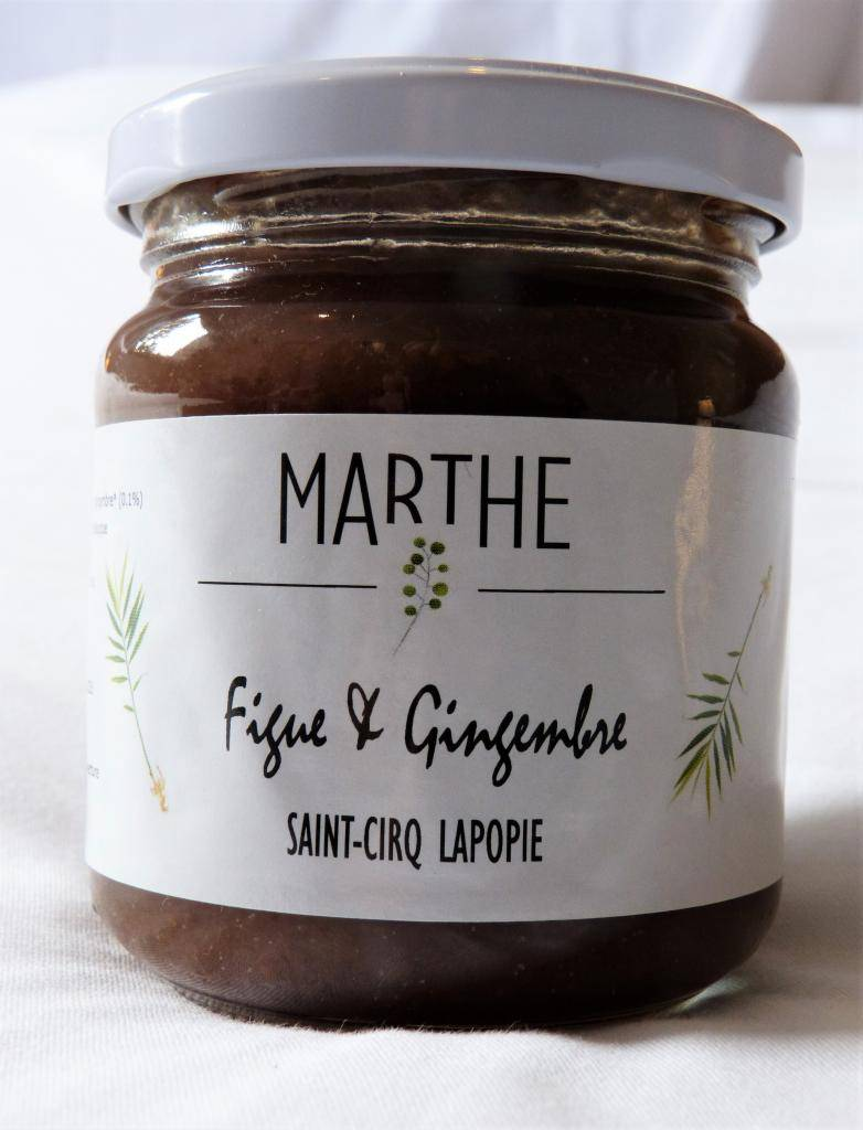 Marthebio Confiture Bio Figue Gingembre 225g