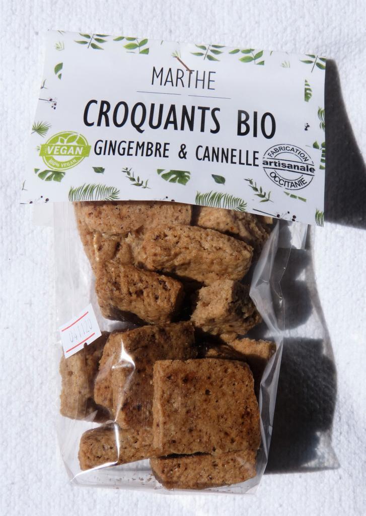 Marthebio Biscuits Bio Vegan Cannelle Gingembre 100g