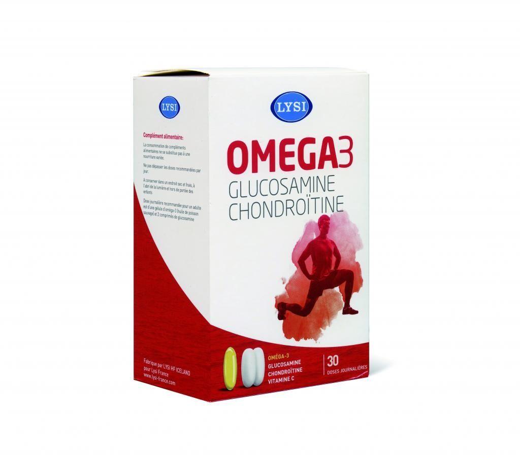 Lysi Glucosamine Chondroïtine - 30 gélules d'oméga 3 et 60...