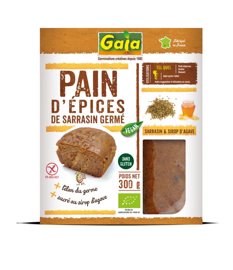 Gaia Pain d'épices vegan de sarrasin germé 300g