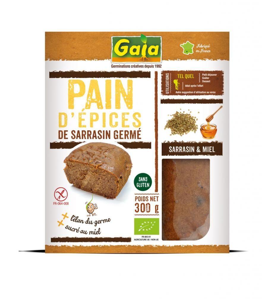 Gaia Pain d'épices au sarrasin germé 300g
