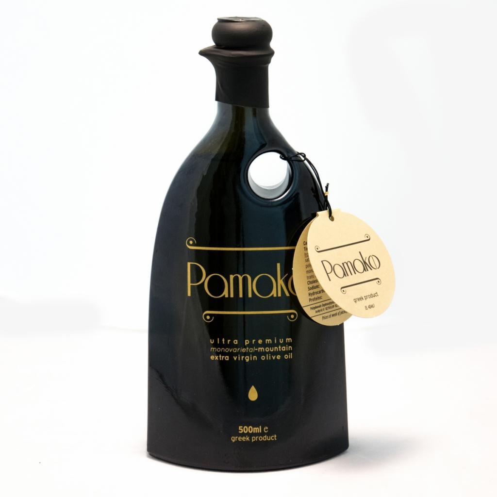 Bioselect France - Aromes De Crete Huile d'olive PAMAKO vierge extra 500ml - Forte teneur en polyphénols