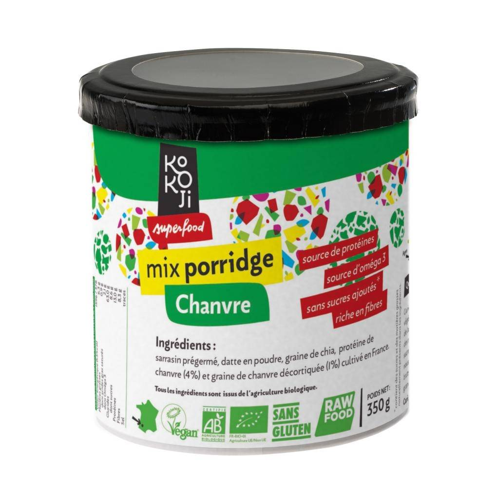 Kokoji Mix Porridge Protéine + Chanvre Bio KoKoji - 350g - Sans gluten -...