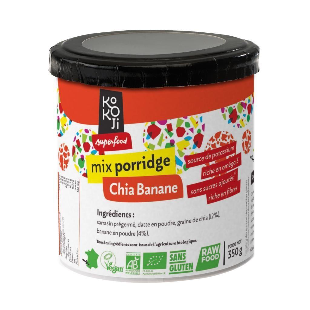 Kokoji Mix Porridge Chia - Banane Bio KoKoji - 350g - Sans gluten - Sans...