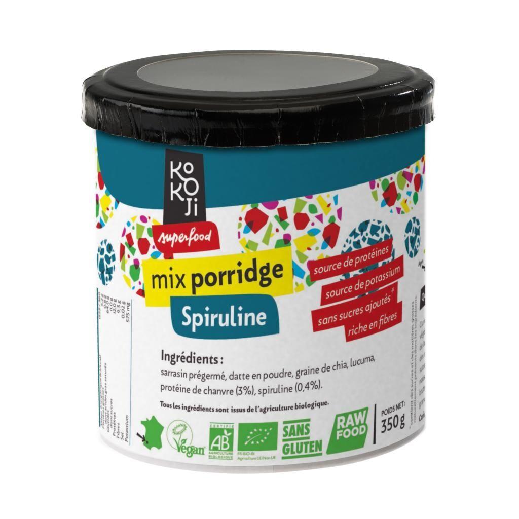 Kokoji Mix Porridge Spiruline Bio KoKoji - 350g - Sans gluten - Sans...