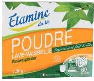 ECOCERT POUDRE LAVE  VAISSELLE   1.3 kg   label Ecocert