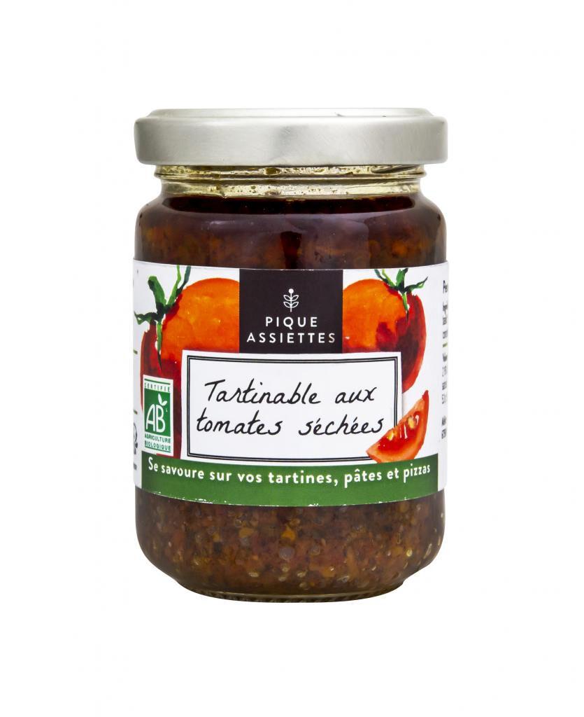 Pique-assiettes Tartinable aux Tomates séchées Bio 120g