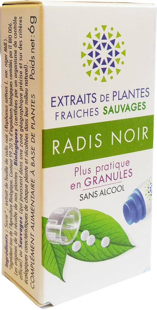 Kosmeo RADIS NOIR Teinture Mère  d'extaits de plantes fraiches granules ...
