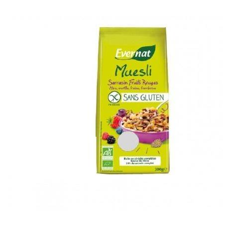 EVERNAT Muesli Sarrasin Fruits Rouges Sans Gluten 300g-Evernat