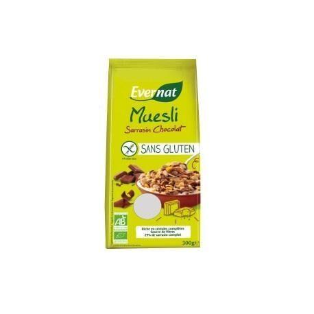 EVERNAT Muesli Sarrasin Chocolat Sans Gluten 300g-Evernat